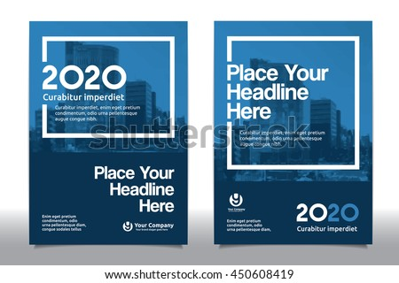 Blue Color Scheme With City Background Business Book Cover Design Template  In A4. Easy To  Free Report Cover Templates