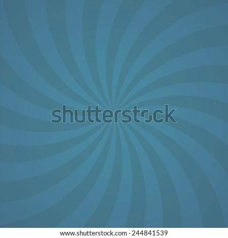 blue color swirl burst background. Vector illustration - stock vector