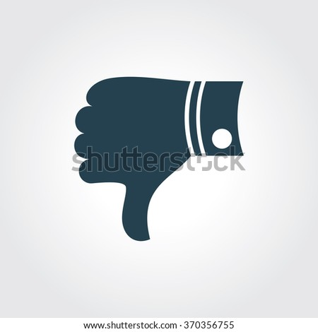 Blue Colored Icon of Like & Dislike On Gray Color Background. Eps-10. - stock vector