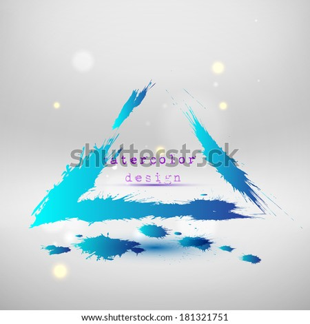 Blue colored wave design. Abstract background. Vector illustration