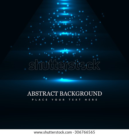 Blue colorful light effect wave background Vector illustration - stock vector