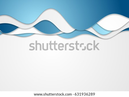 Blue concept corporate waves abstract background. Vector design