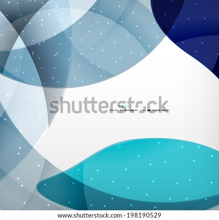 Blue corporate abstract shapes modern brochure design - stock vector