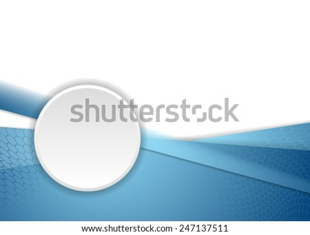 Blue corporate background with circle. Vector design - stock vector