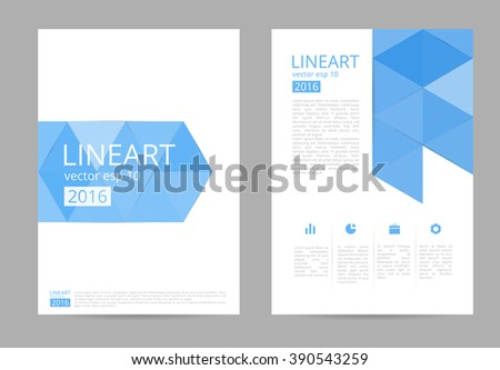 Blue cover design annual report brochure flyer design template vector, leaflet cover presentation, layout in A4 size