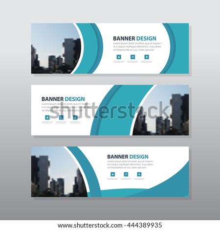 Blue curve abstract corporate business banner template, horizontal advertising business banner layout template flat design set , clean abstract cover header background for website design - stock vector
