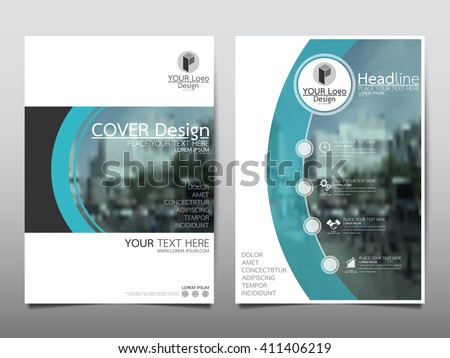 Blue curve technology annual report brochure flyer design template vector, Leaflet cover presentation abstract flat background, layout in A4 size - stock vector