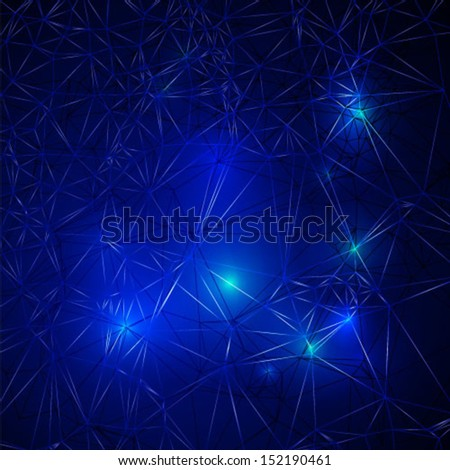 Blue Dark Abstract Grid background. Vector. - stock vector