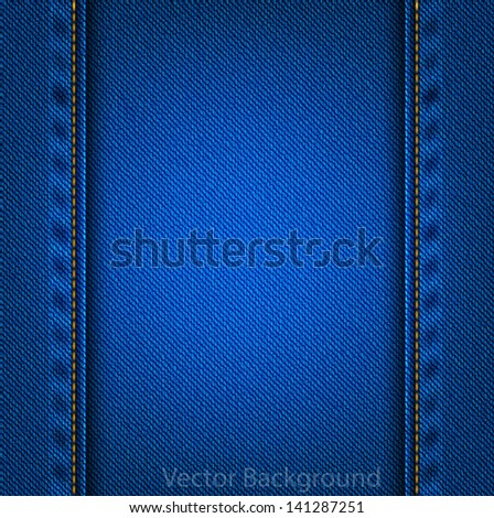 blue denim background. - stock vector