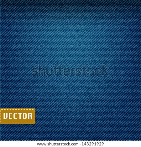 Blue denim jeans texture,vector EPS10 - stock vector