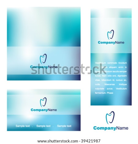 Blue dental abstract backgrounds - trendy business website template with copy space Contemporary texture - stock vector