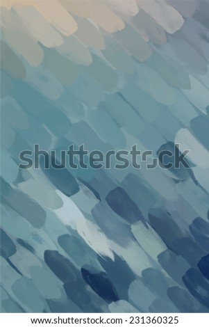 Blue diagonal brush stroke paint. Abstract illustration. - stock vector