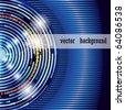 Blue Digital Background - stock vector
