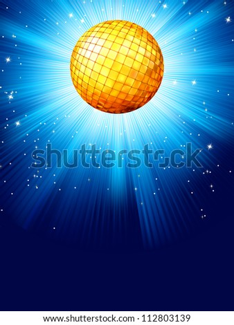 Blue disco background. And also includes EPS 8 vector - stock vector