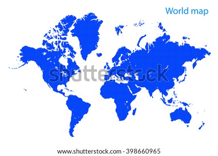 blue dot world map