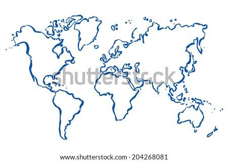 Drawing map world vector illustration vectores en stock 730327510 blue drawn vector map of the world gumiabroncs Images