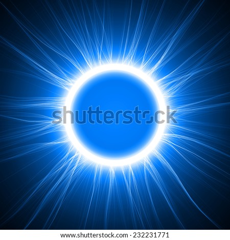 blue energy ring abstract.conceptual vector design with free area in center for any object.