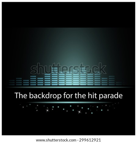 blue equalizer for the hit parades - stock vector