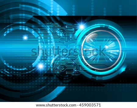 blue eye abstract cyber future technology concept background, illustration, circuit, binary code. vector