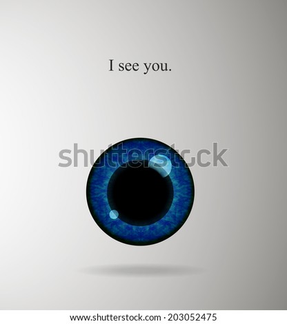 Blue eye original placard background