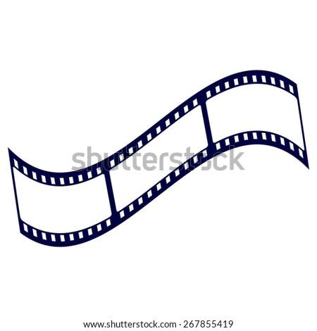 blue film strip - stock vector