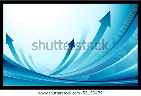 Blue finance business background - stock vector