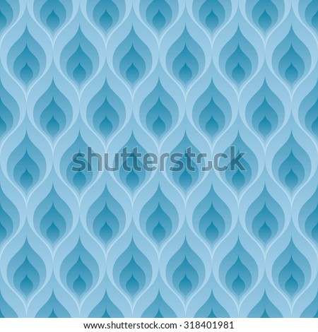 Blue flame wallpaper. 3d seamless background. Vector EPS10. - stock vector