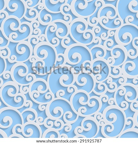 Blue floral 3 d seamless pattern background stock vector 2018 blue floral 3d seamless pattern background vector curl decoration for wallpaper or invitation card stopboris Image collections