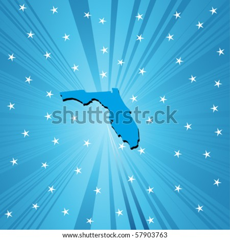 Blue  Florida  map, abstract background for your design