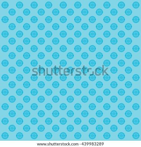 Blue flower background. Floral pattern.  - stock vector