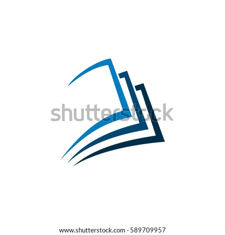 Logo publisher template awesome graphic library blue folded paper logo template stock vector 589709957 shutterstock rh shutterstock com publisher logo templates maxwellsz