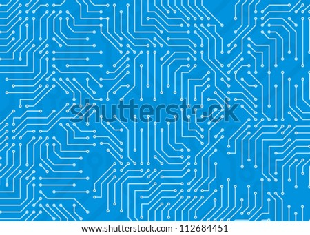 blue frame as abstract computer circuit board
