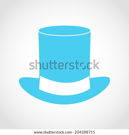 Blue gentleman hat Icon Isolated on White Background - stock vector