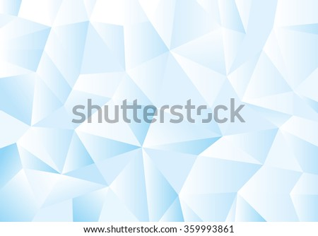 Blue geometric pattern, triangles background, polygonal design. Vector illustration - stock vector