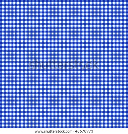 Blue gingham - stock vector