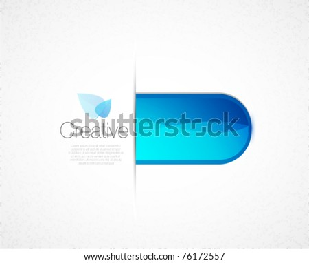 Blue glass abstract background - stock vector