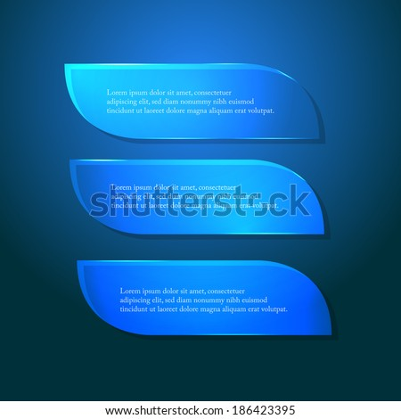 Blue glass vector banners - stock vector
