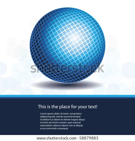 Blue Globe Design Vector