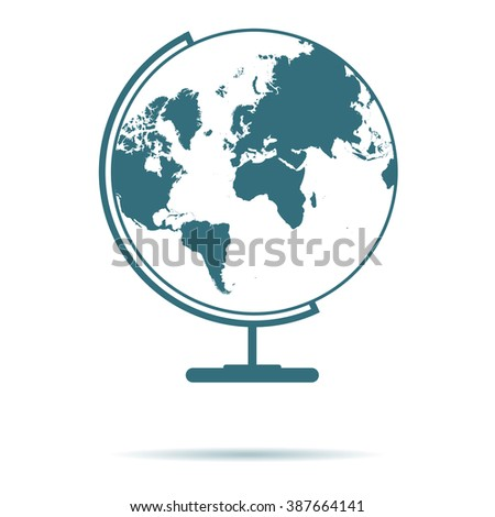 Blue globe map icon isolated on stock vector 387664141 shutterstock blue globe map icon isolated on background modern simple flat earth sign fly gumiabroncs Images