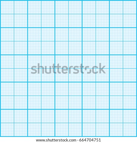 Blue Graph Paper Coordinate Paper Grid Stock Vector HD (Royalty Free ...