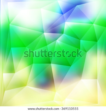 Blue,green geometric pattern, triangles background, polygonal design. Vector EPS 10 illustration. - stock vector