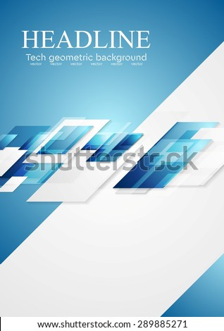 Blue grey shiny hi-tech motion background. Vector illustration template - stock vector