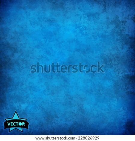 Blue grunge background - stock vector