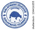 Blue grunge rubber stamp with the text Galapagos Islands written inside, vector illustration - stock vector