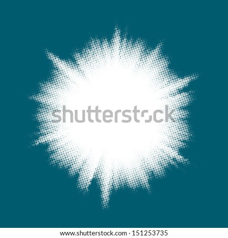 Blue halftone blast. EPS 10 vector file included - stock vector