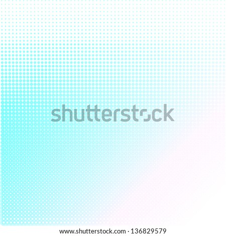 blue halftone texture & background - stock vector
