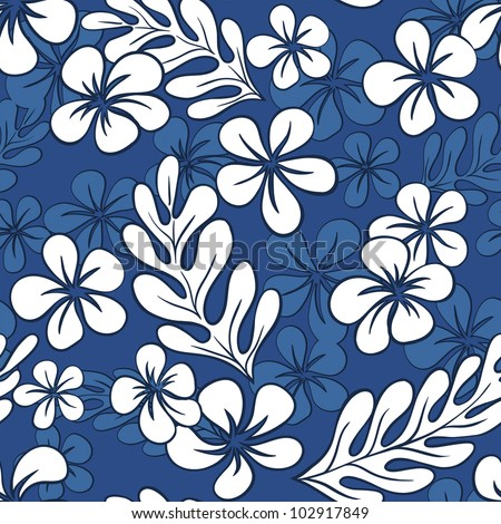 Blue Hawaii Pattern