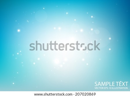 Blue haze vector space background illustration - Vector abstract blue sparkling  background template - stock vector