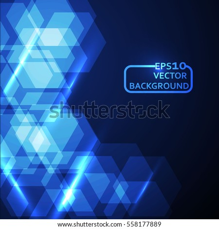 blue hexagonal abstract background