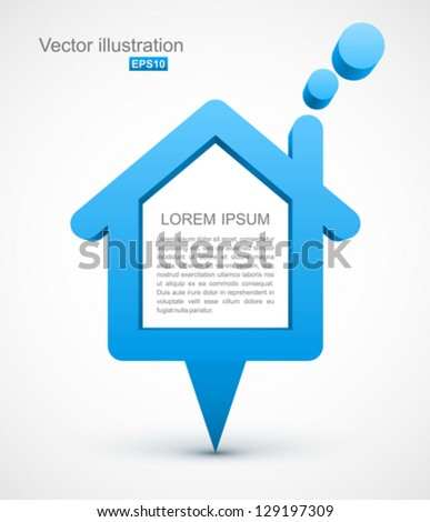Blue house pointer. - stock vector
